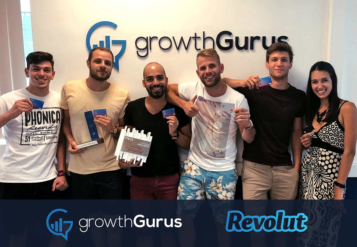 growthgurus-digital-marketing-team-posing-with-their-free-revolut-cards